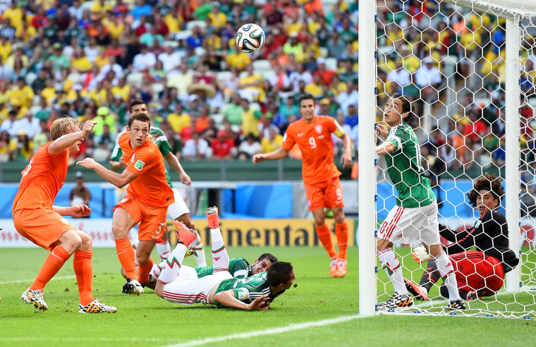 Image: Netherlands v Mexico: Round of 16 - 2014 FIFA World Cup Brazil