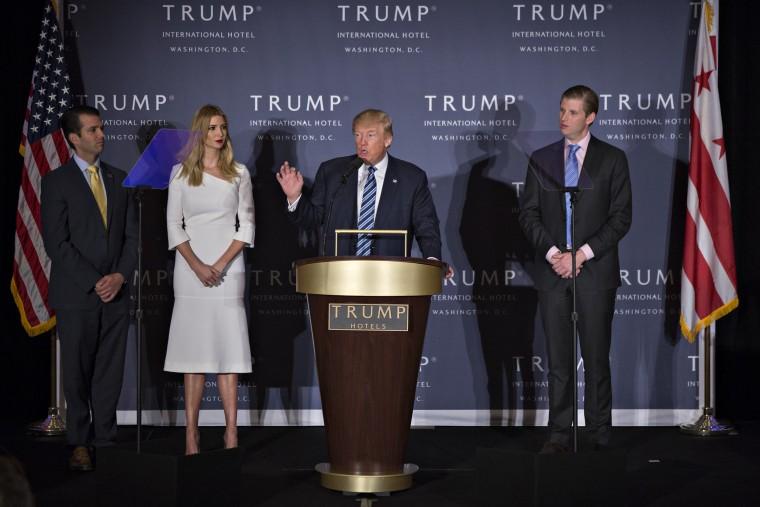 Image: Trump family