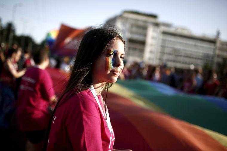 Image: Gay Pride parade in Athens