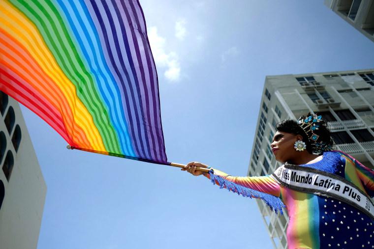 Image: TOPSHOT-PUERTORICO-LGBT-PRIDE-PARADE