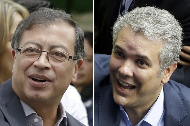 Image: Gustavo Petro and Ivan Duque