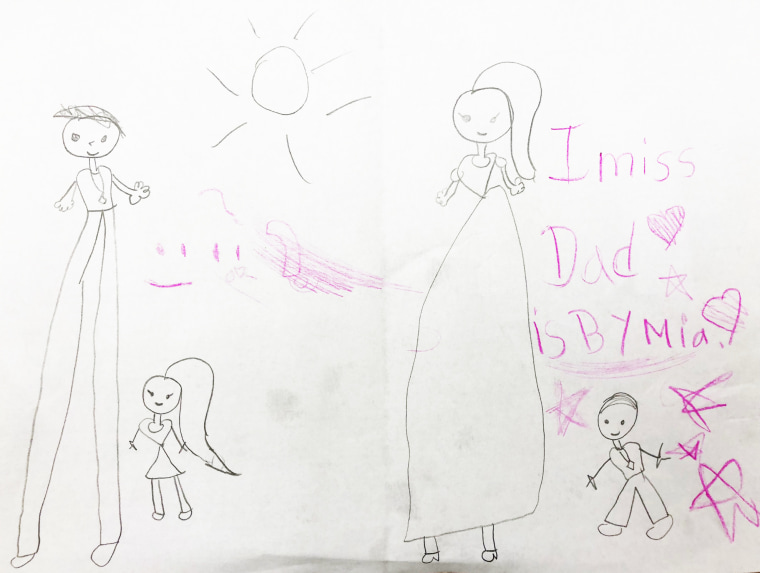 Image: A drawing by Mia, Xiu Qing You 's oldest child