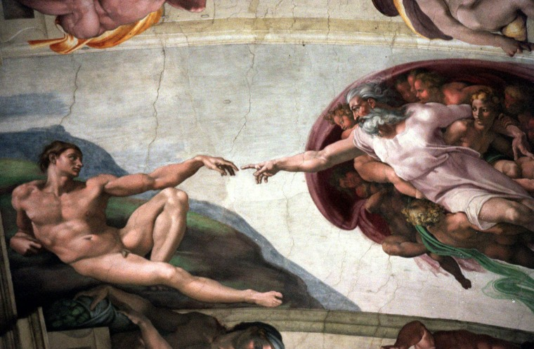 "Image: Michelangelo's fresco ""La Creazione"" (""The Creation"")"