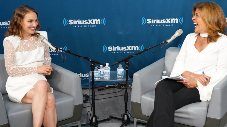 Natalie Portman talked about motherhood, her decision to go vegan and her passion for the environment during a SiriusXM Town Hall hosted by TODAY's Hoda Kotb.