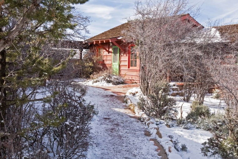 Historic Bright Angel Lodge on south rim of Grand Canyon.