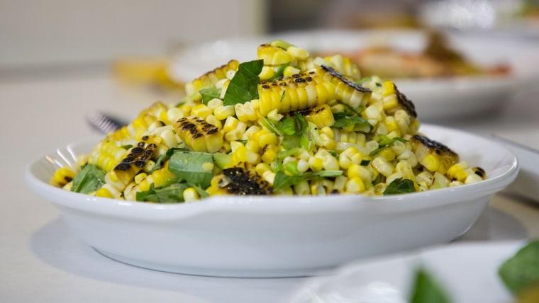 Corn Salad with Basil