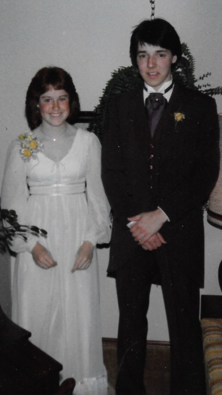 """In 1981, self-described """"band geeks"""" Pam (Semrau) Simpson and Dave Bentley attended Shorecrest High School's prom together."""
