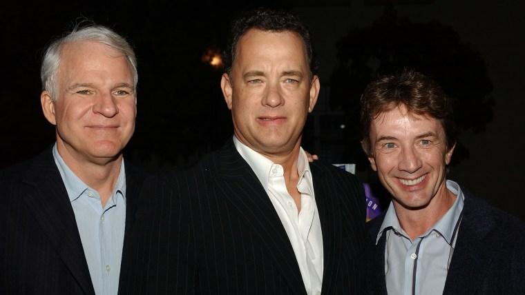 Actors Steve Martin, Tom Hanks and Martin Short
