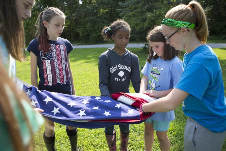 Flag Handling, Girl Scouts, Patriotism