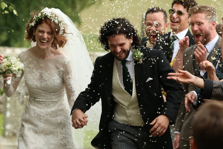 'Game Of Thrones' Stars Kit Harington And Rose Leslie Tie