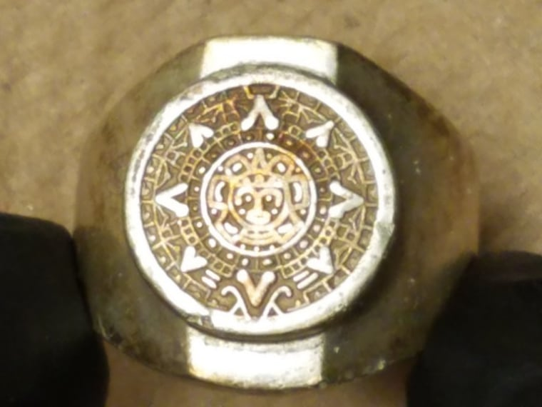 Image: The suspect's ring that came off during a 2003 assault at the Renaissance Hotel on 9th Street in NW Washington, D.C.