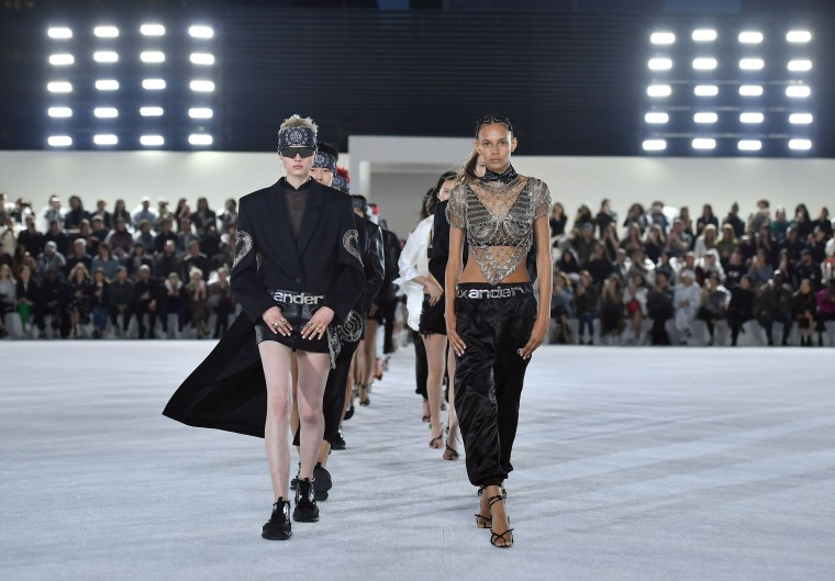 Image: Models walk the runway at the Alexander Wang Collection 1 show