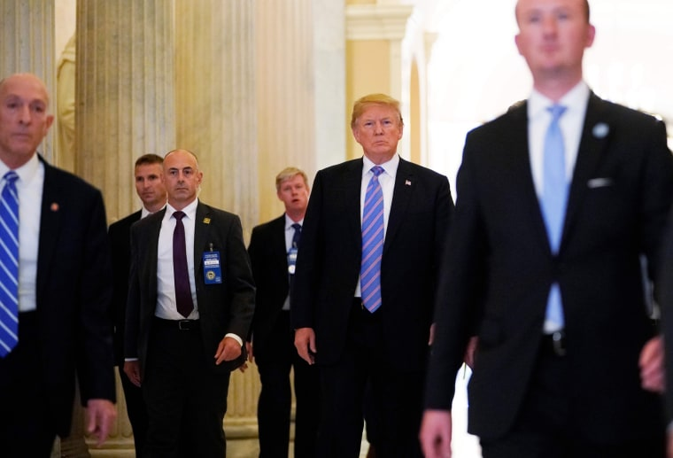 Image: Trump departs the U.S. Capitol after addressing the House Republican Conference