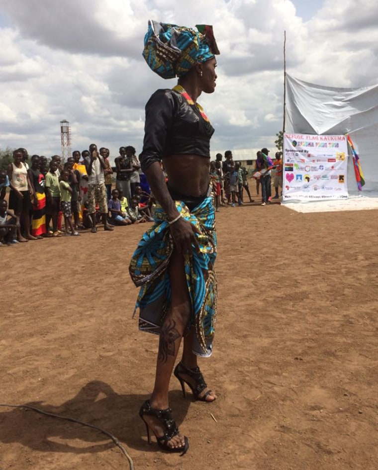 Image: A participant of an LGBTQ pride eventat the Kakuma Refugee Camp in Kenya