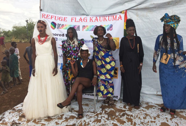 Image: Participants of an LGBTQ pride event at the Kakuma Refugee Camp in Kenya