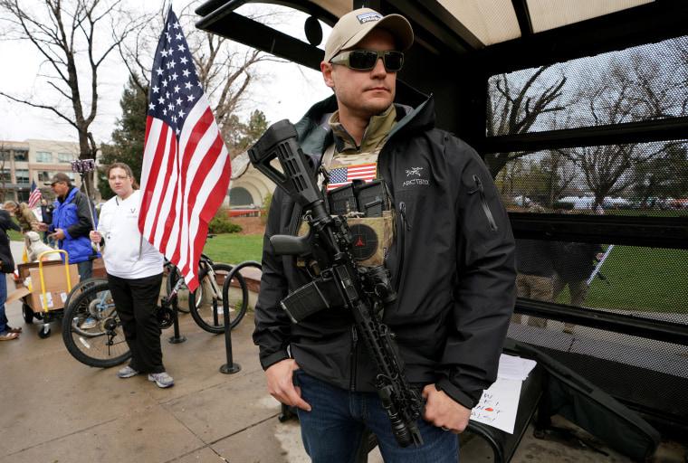 Image: Pro-gun rally in Boulder