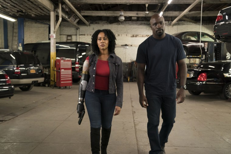 Image: Simone Missick and Mike Colter in Marvel's Luke Cage season 2.