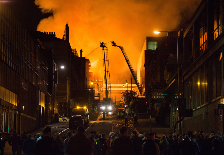 Image: Fire at Glasgow School of Art in iconic Mackintosh Building