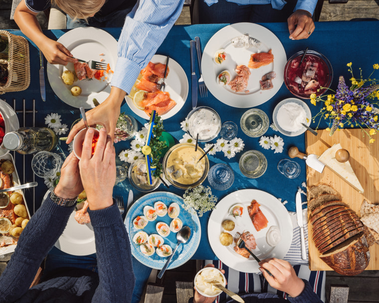Image: Swedish summer Midsommar Midsummer celebration dinner party