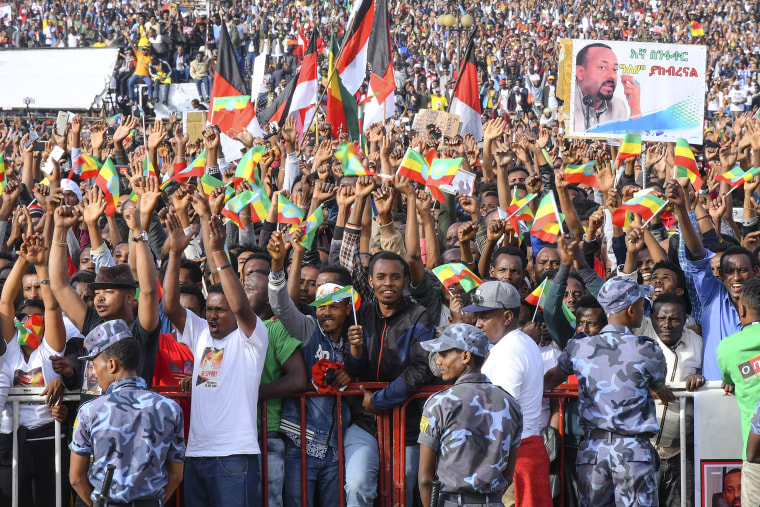 Image: Explosion rocks a rally in Ethiopia