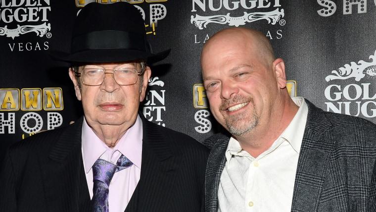 "Richard ""The Old Man"" Harrison (L) and Rick Harrison"
