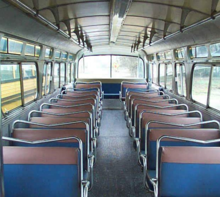 Greyhound bus before and after