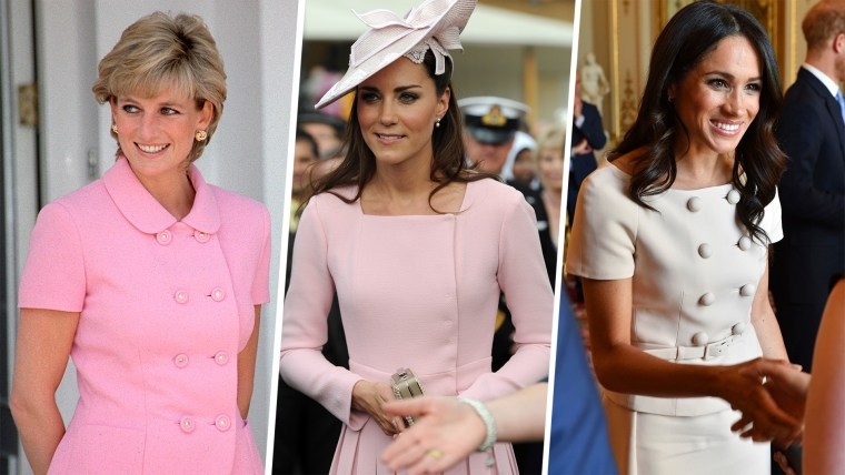 Both Meghan and Kate have taken inspiration from looks made famous by their late mother-in-law, Princess Diana.
