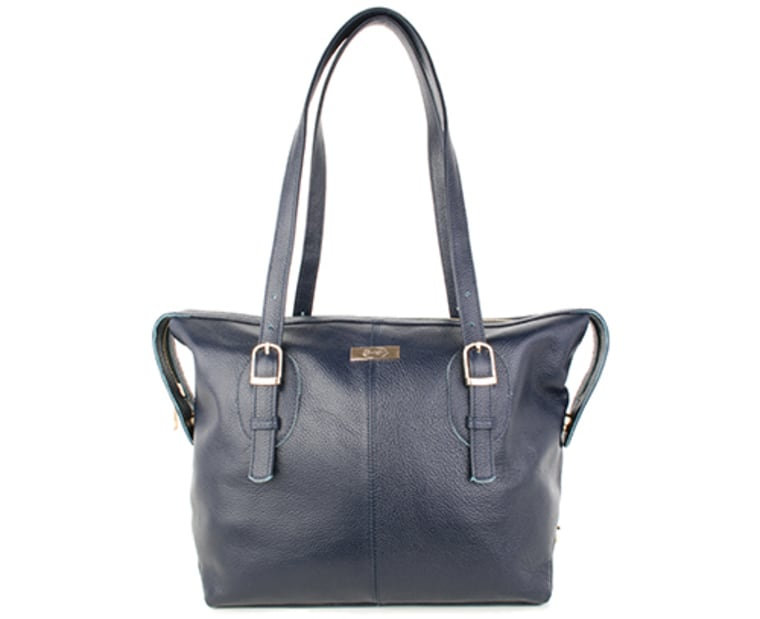 The blue Faye bag from Onna Ehrlich