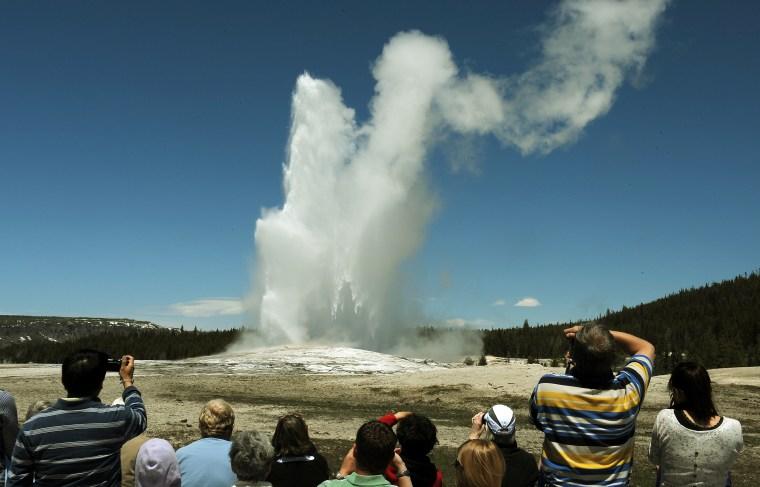 'Old Faithful' geyser, Yellowstone National Park