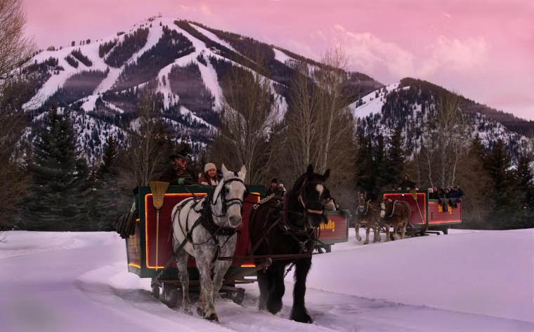 Horse Drawn Sleigh Ride: Sun Valley, Idaho