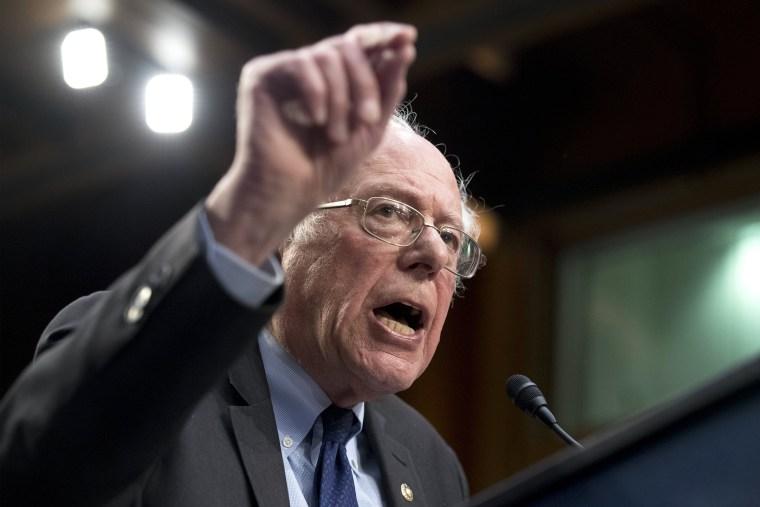 Image: Democratic Senators' 'Medicare for All Act of 2017' announcement