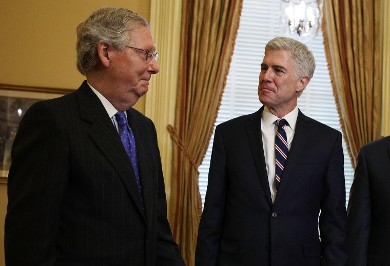 Image: Mitch McConnell and Neil Gorsuch