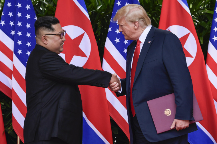 Image: North Korea leader Kim Jong Un and U.S. President Donald Trump shake hands