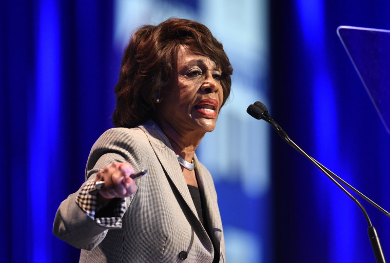 Image: Maxine Waters speaks at the 2018 California Democrats State Convention