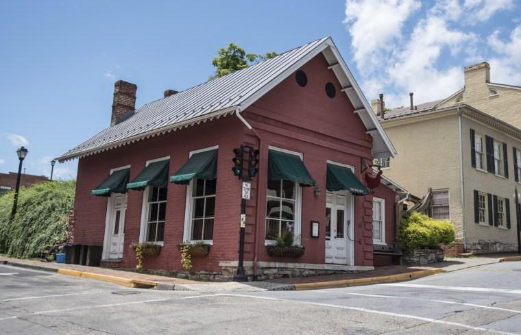 The Red Hen Restaurant in downtown Lexington, Virginia.