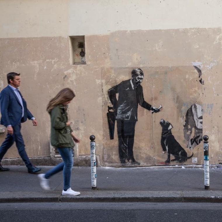 Image: A Banksy near the Sorbonne