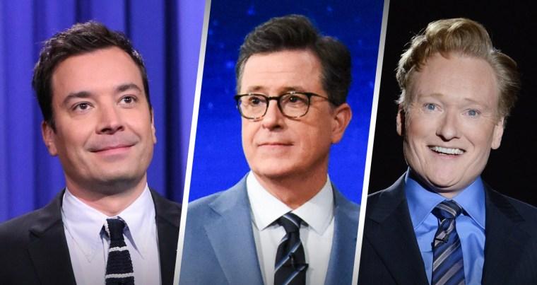 Jimmy Fallon, Stephen Colbert and Conan O'Brien