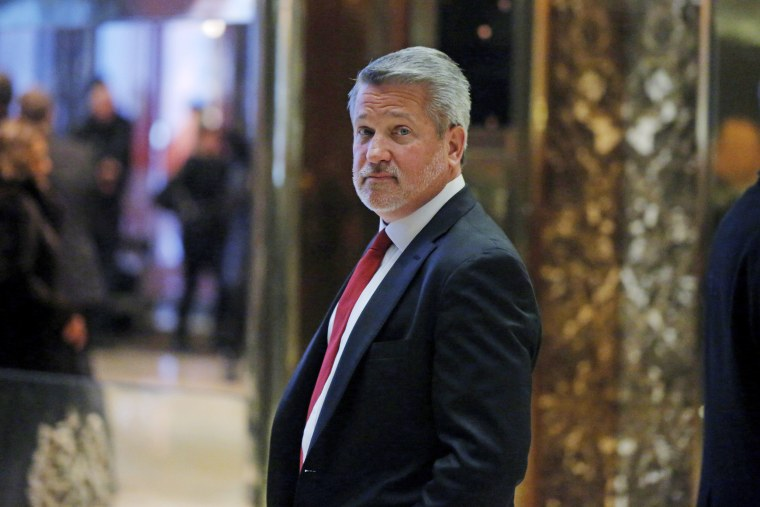 Image: Fox News President Bill Shine departs after meeting with U.S. President-elect Donald Trump at Trump Tower in the Manhattan borough of New York