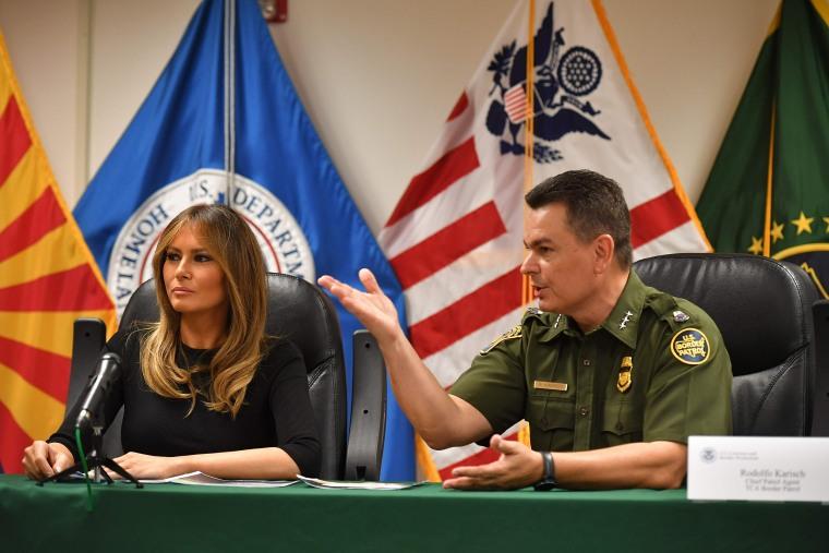 Image: US-POLITICS-IMMIGRATION-MELANIA TRUMP-MIGRANTS