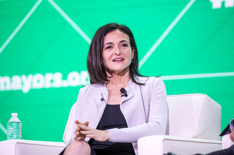 Image: Facebook's Sheryl Sandberg Addresses The U.S. Conference Of Mayors In Boston