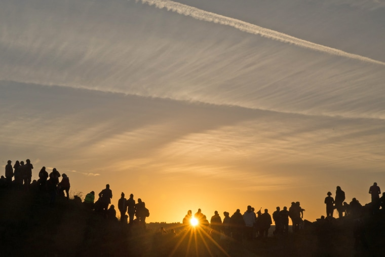 Image: Summer Solstice Is Celebrated At Avebury's Neolithic Henge