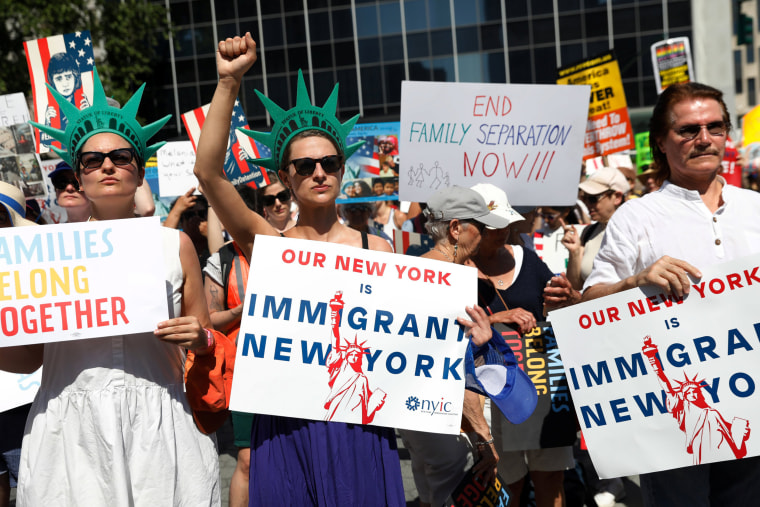 Image: Immigration protests New York