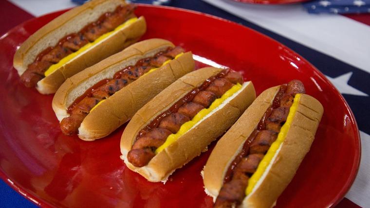 Spiral-Cut Hot Dogs