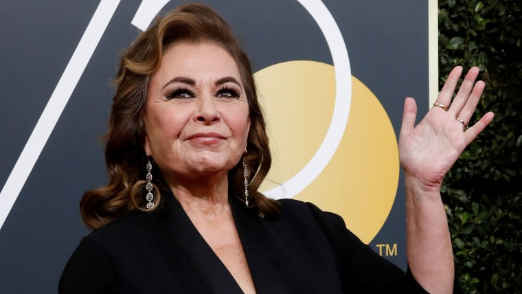 Image: FILE PHOTO: Actress Roseanne Barr waves on her arrival to the 75th Golden Globe Awards in Beverly Hills
