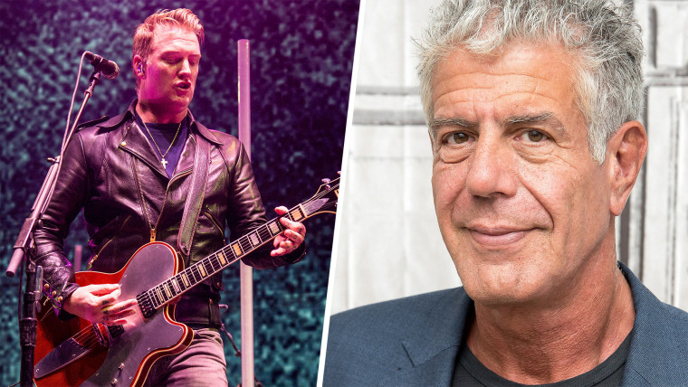 Queens of the Stone Age singer Josh Homme, Anthony Bourdain