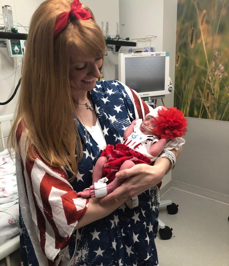 NICU babies celebrate July 4