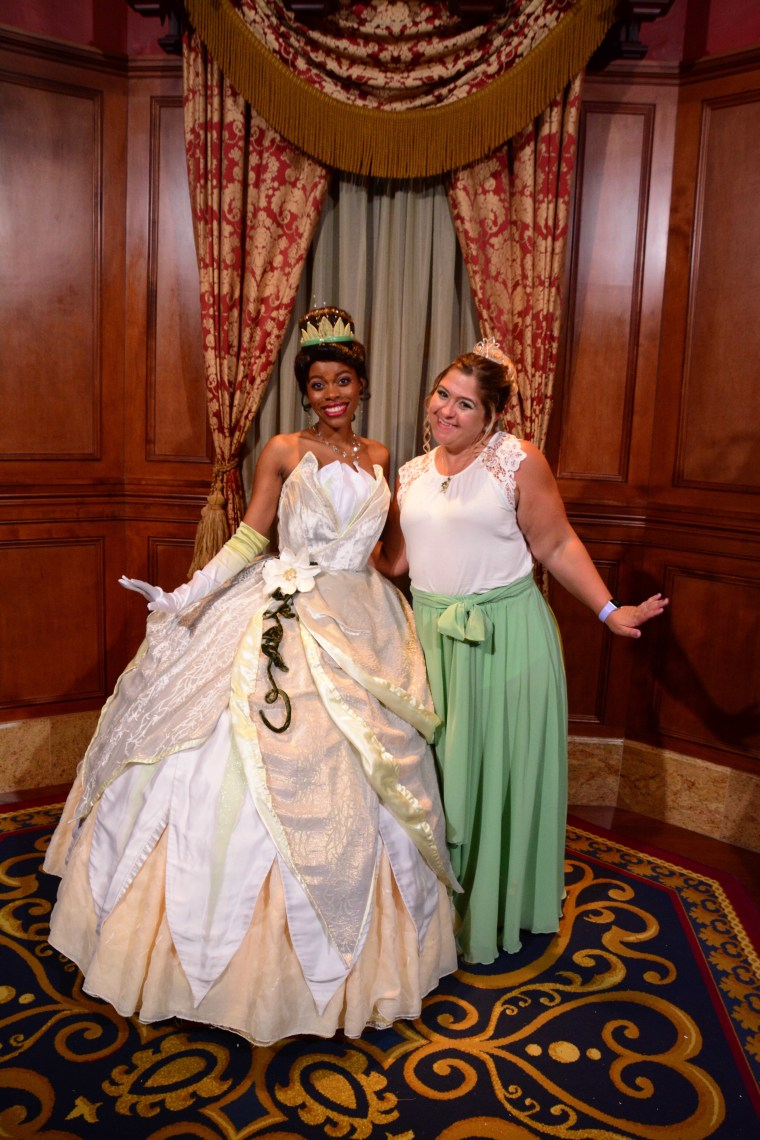 "Me with the ""real"" Tiana."