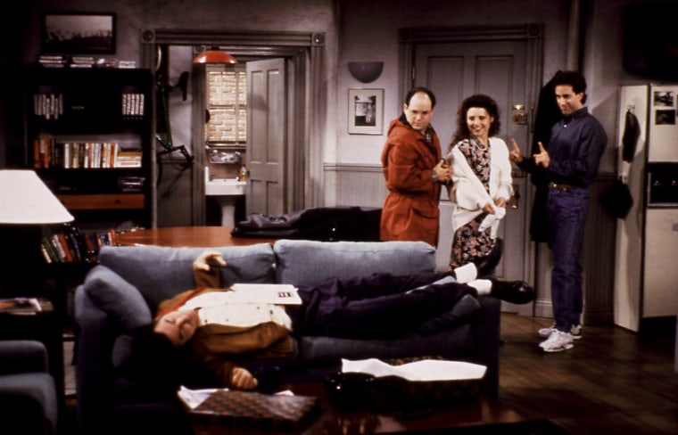 'Seinfeld' characters in Jerry's New York City Apartment