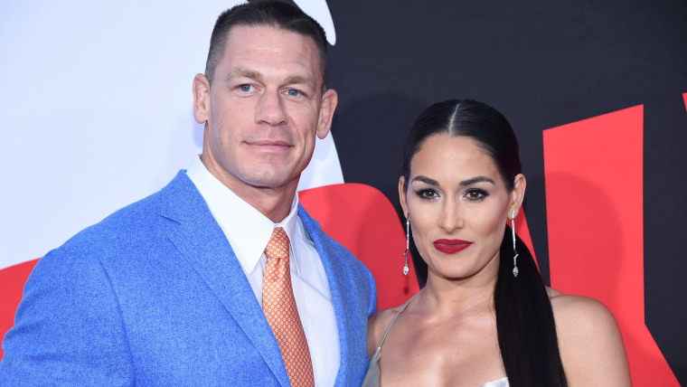 """John Cena and Nikki Bella attend the premiere of """"Blockers"""" in Los Angeles"""