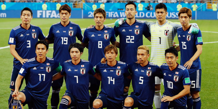 Japan's national soccer team found dignity in defeat.